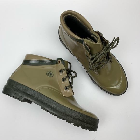 Sporto Shoes - Sporto Original Duck Boots Rubber Rain Olive sz 8